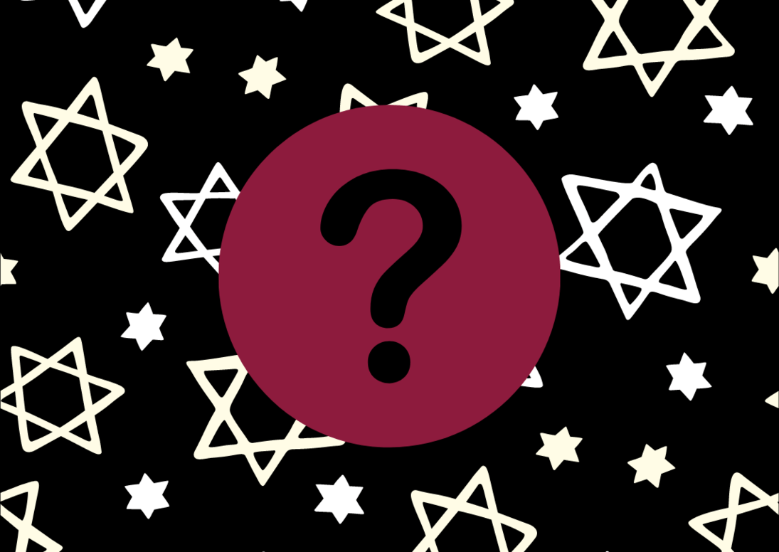 Jewish Stars and Question Mark