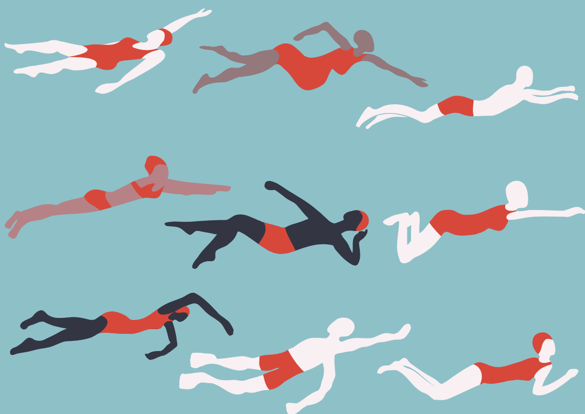 Graphic of swimmers