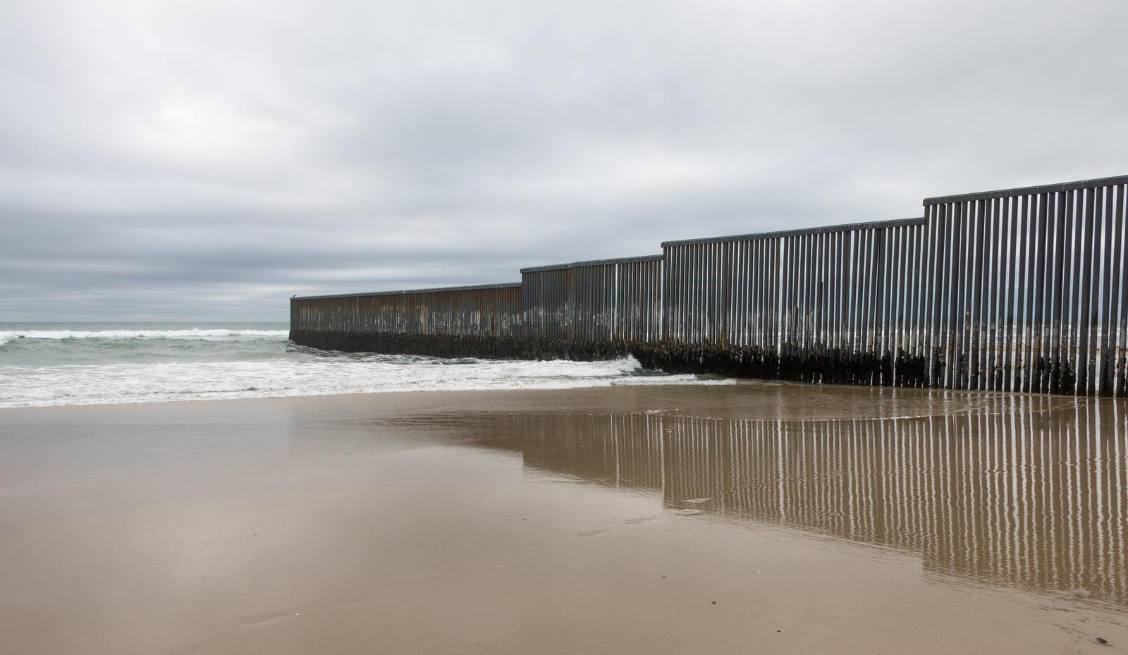 Mexico-US border wall at Tijuana, Mexico