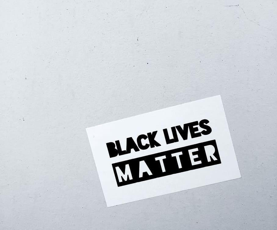 Black Lives Matter Poster on wall