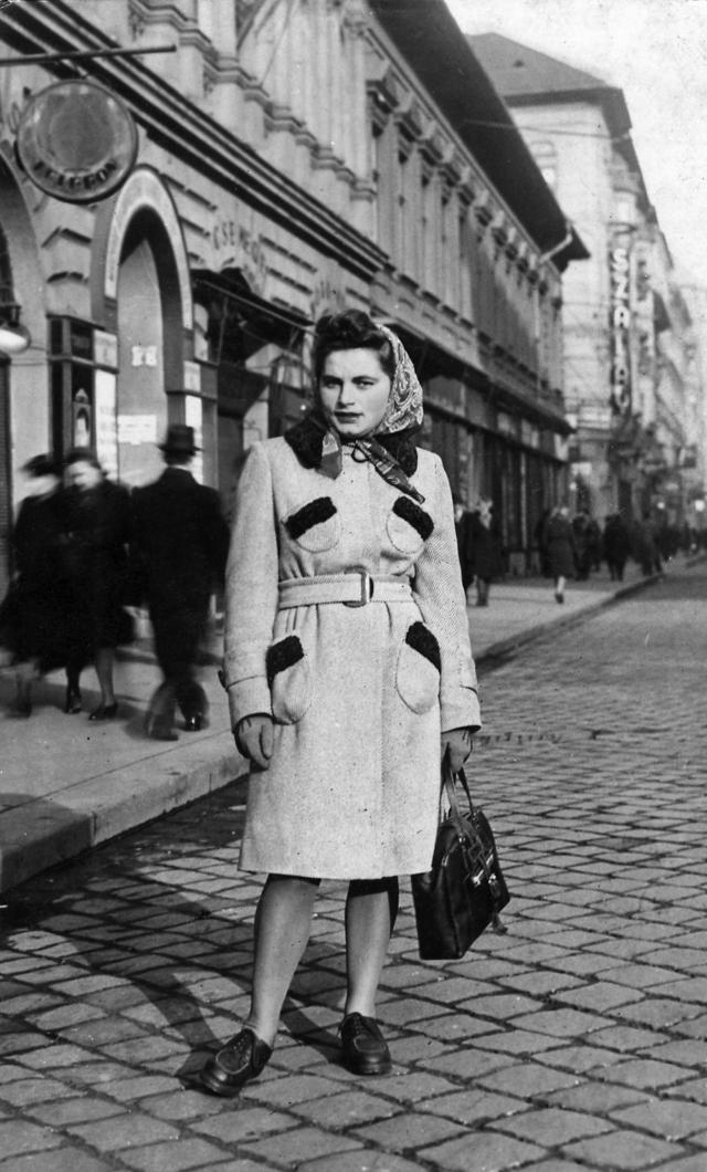 Renia Kukiełka in Budapest, 1944