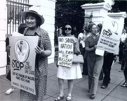 Bella Abzug with Women Strike For Peace, Demonstrating in Front of the White House