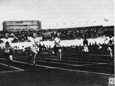 Finish of the 100 Meter Race at the 1928 Olympics