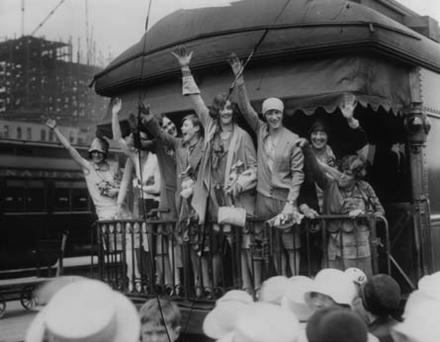 The Canadian Women's Track Team Departure to Amsterdam, 1928