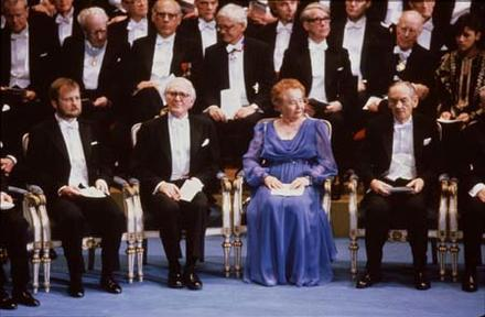 Gertrude Elion and Other Recipients at the Nobel Prize Ceremony, 1988