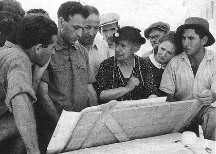 Henrietta Szold and Kibbutz Leaders circa 1940