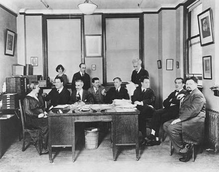 Henrietta Szold and the Provisional Zionist Committee, New York, circa 1915