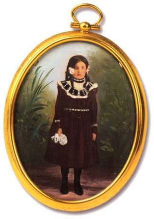 Hand-Painted Miniature of Young Beatrice Alexander, circa 1905