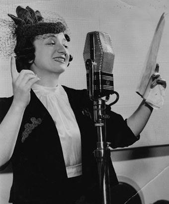 Molly Picon at the Maxwell House Radio Show, 1938