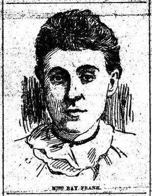 Sketch of Ray Frank, 1893