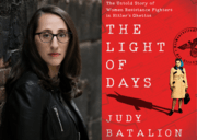"Judy Batalion and the cover of ""The Light of Days"""