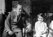 Irene Butter with Pappi, 1934