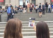 Maayan and Shalvah on the Steps of the Met