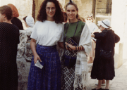 Judith Rosenbaum and Ayelet Cohen at Women of the Wall