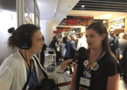 Nahanni Rous and Elizabeth Schlesinger at the DNC