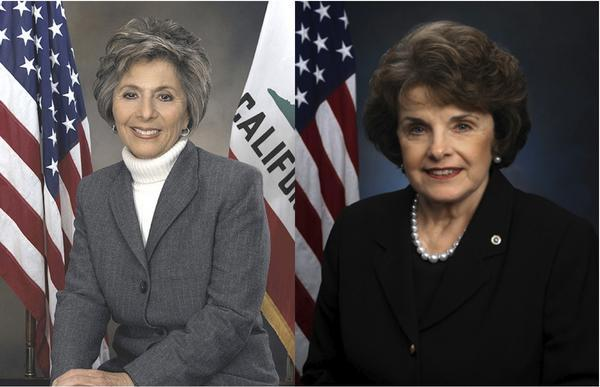 dianne feinstein and barbara boxer elected to senate jewish women s archive dianne feinstein and barbara boxer